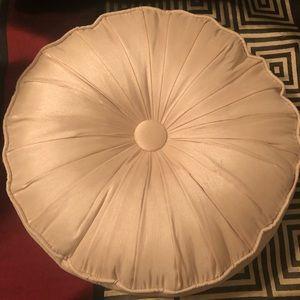 Round Cream Color Accent Pillow